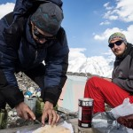 Preparing Vitamins and Supplements during a Tien Shan Expedition, July 2013
